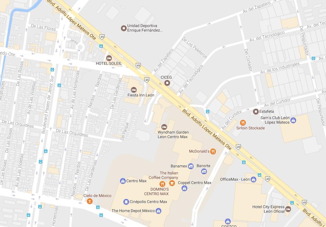MAPA DE UBICACION HOTEL SOLEIL